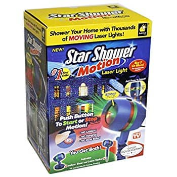 Star Shower As Seen on TV Motion Laser Lights Star Projector: $19.98
