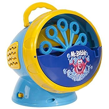 Kid Galaxy Mr. Bubble Super Bubble Machine Blower, Blue/Yellow, 5.5 x 6 x 5.5: $6.43 [Add On Item]