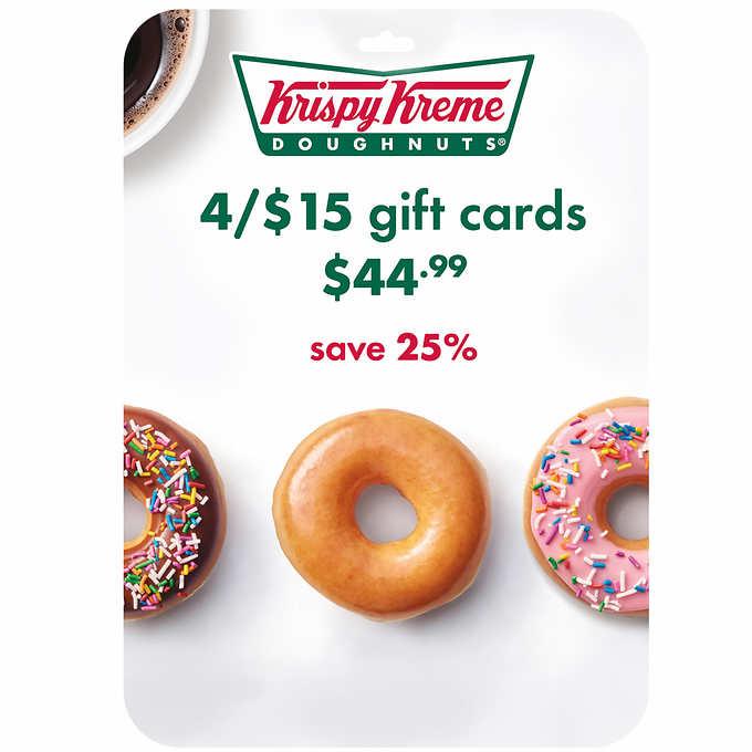$60 Krispy Kreme Gift Card for $44.99 + Free Shipping