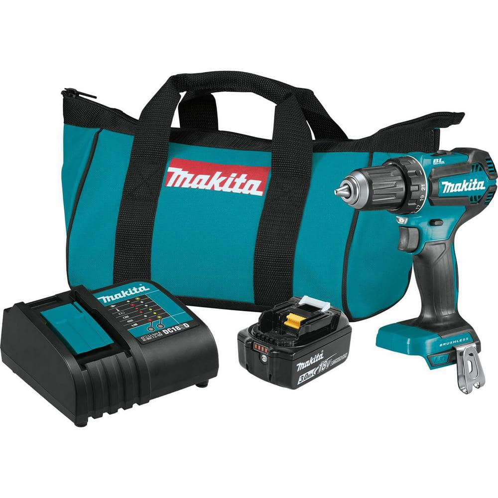 Makita 18-Volt LXT Lithium-Ion Brushless Cordless 1/2 in. Driver-Drill Kit, 3.0Ah-XFD131 - The Home Depot $70.00