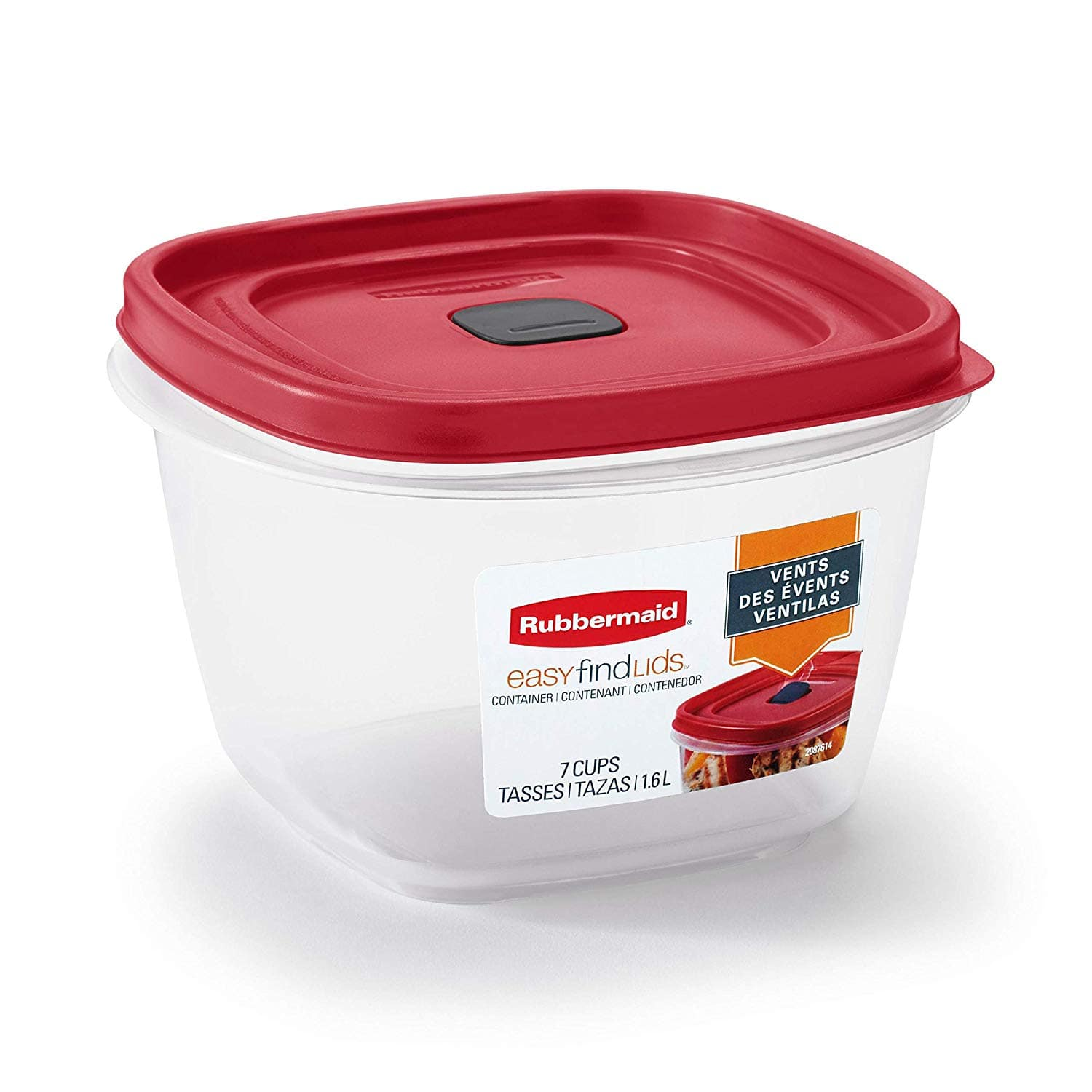 Rubbermaid 2030330 Easy Find Vented Lid Food Storage Containers, 7-Cup - $3