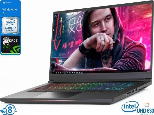 "Rtx 2070 Intel Whitebook Gaming Notebook, 15.6"" 144Hz FHD Display, Intel Core i7-9750H Upto 4.5GHz, 8GB RAM, 128GB NVMe SSD,  - $1089.99"
