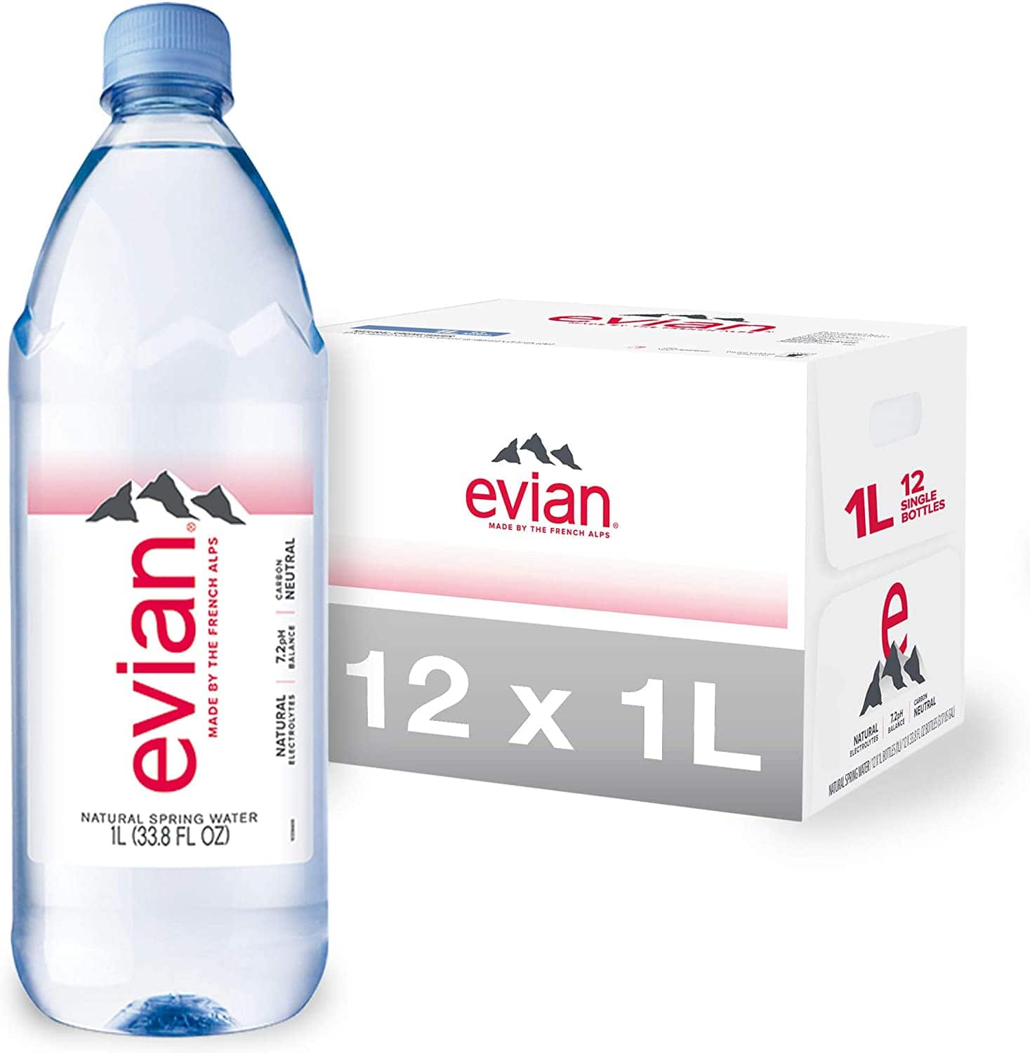 evian 12 pack 1 liter bottles 15.98 but 11.15 after clipping 25% coupon for subscribe and save $11.15