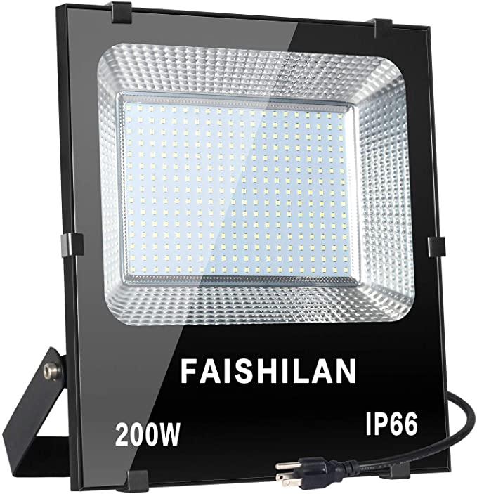 FAISHILAN 200W 20000LM Outdoor LED Flood Light $52.79 + Free Shippping