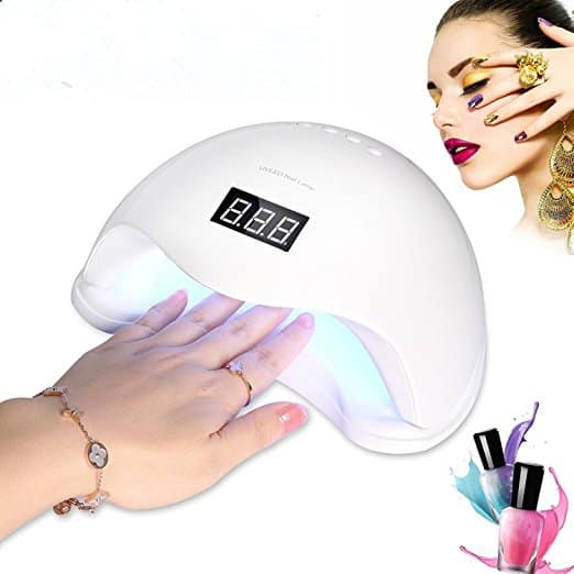 50% OFF for 48w UV LED Gel Nail Light Dryer with Auto Sensor & 4 Timer Settings,Free Shipping with Amazon Prime $19.50