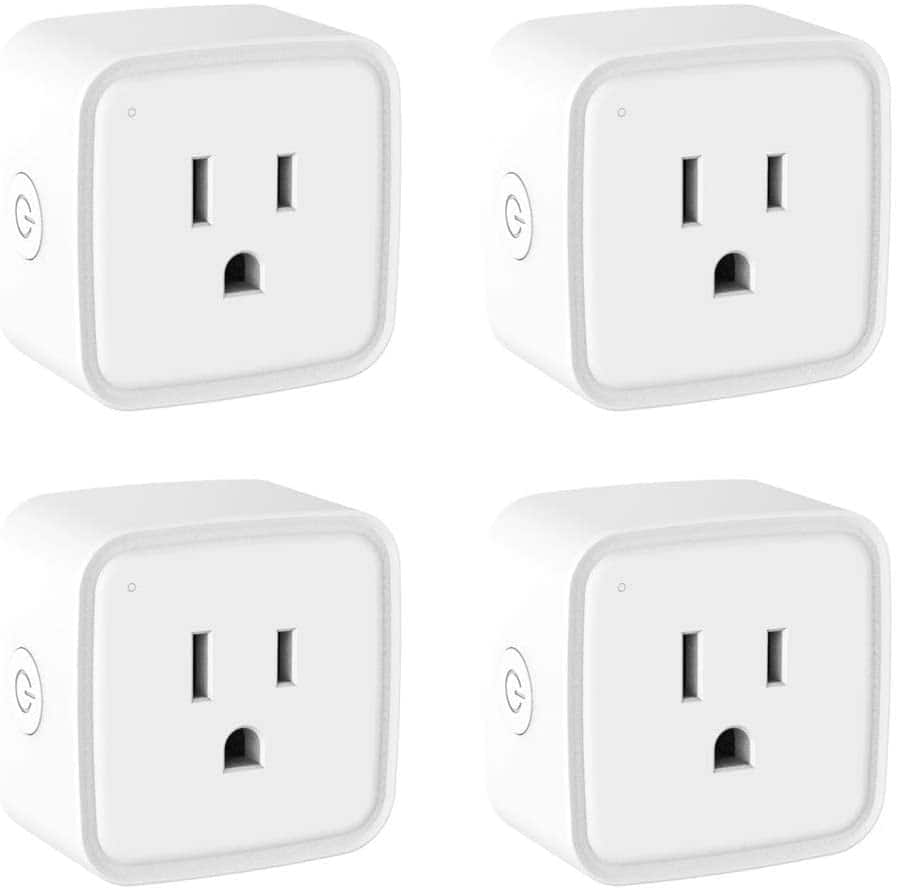 4 Pack Smart Plug WiFi Outlet Work with Alexa Google Home $19.99 @Amazon