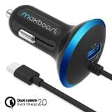 Quick Charge 2.0 Car Charger + MicroUSB Cable $9 with free shiping