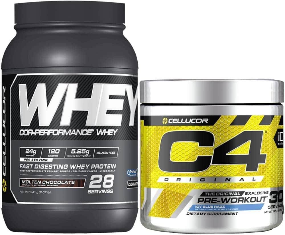 Cellucor C4 Original Pre Workout Powder,Protein Bundle $29.99