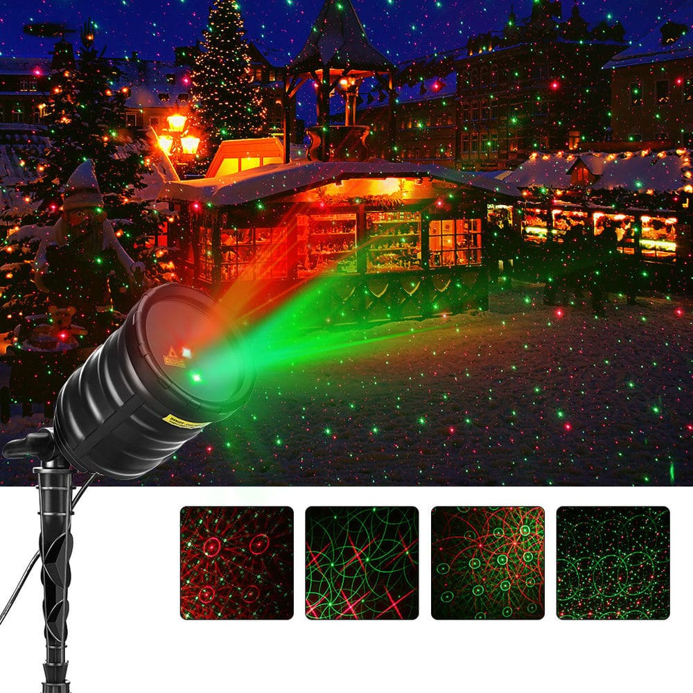 Outdoor Laser Light Red/Green Star Projector with IR Wireless Remote Control, Timer,  Waterproof for $13 with Free Shipping