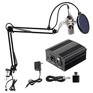 Professional Podcasting Studio Recording Condenser Microphone Kit - $33.74 w/ coupon - Amazon