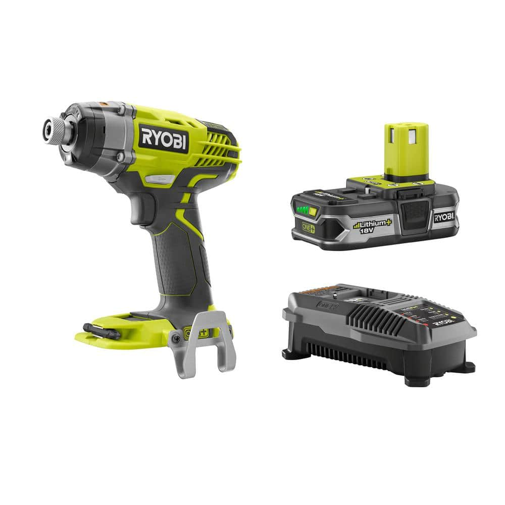 ryobi one 18v li ion 1 4 impact driver w 1 5ah battery. Black Bedroom Furniture Sets. Home Design Ideas