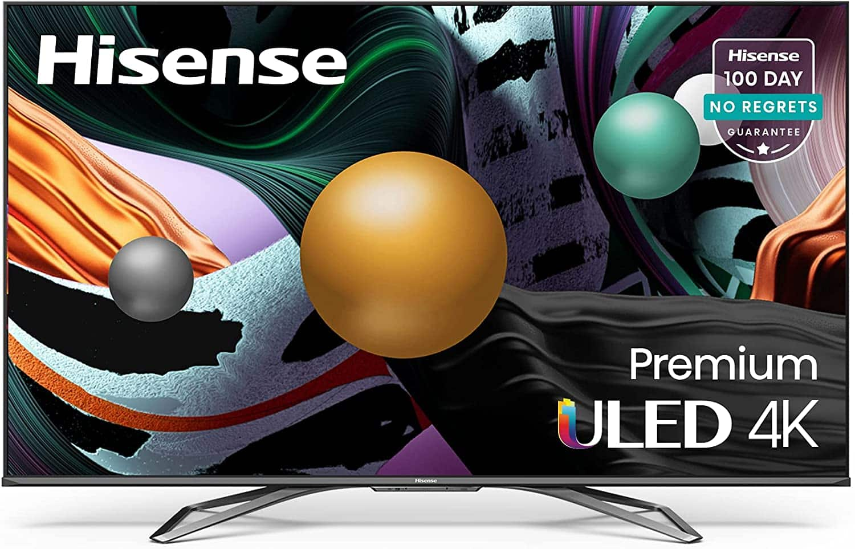 Hisense ULED Premium 55-Inch Class U8G Quantum Series Android 4K Smart TV with Alexa Compatibility (55U8G, 2021 Model) $851.32