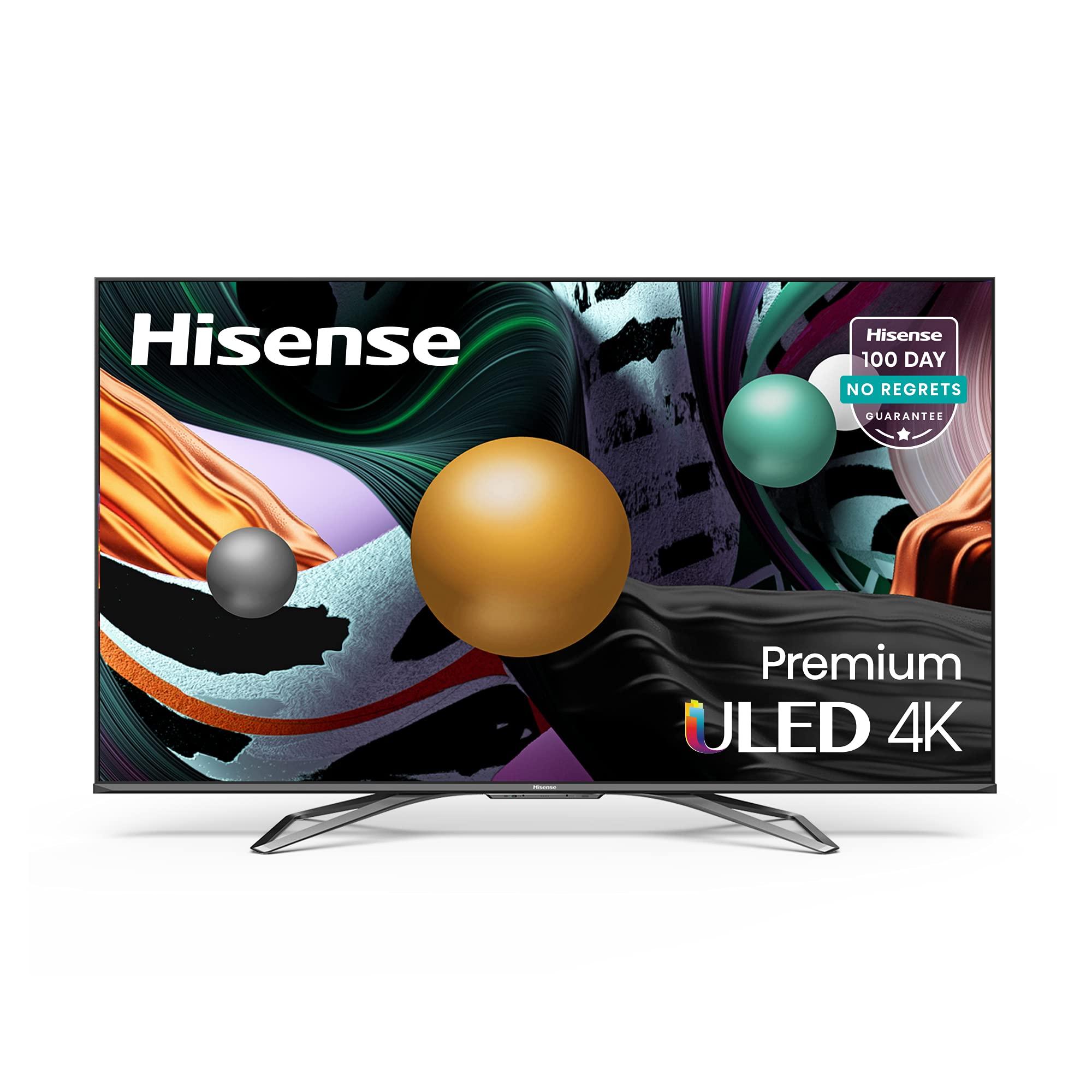 Hisense ULED Premium 55-Inch Class U8G Quantum Series Android 4K Smart TV with Alexa Compatibility (55U8G, 2021 Model)