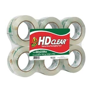 "Duck Brand HD Clear 1.88"" 2.6 Mil Packing Packaging Tape 6-Pack 109 Yards $22 or 55 Yards $10.50 w/ S&S @ Amazon"