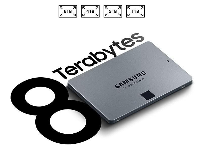 """Samsung 870 qvo sata iii 2.5"""" ssd 8tb (mz-77q8t0b) $699"""