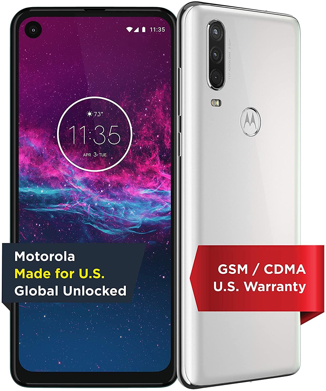 Motorola One Action (Unlocked) 4Gb ram/128Gb/16MP Camera (White) - $199.99 + F/S