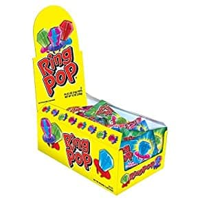Ring Pop Individually Wrapped Bulk Lollipop Variety Party Pack – 24 Count Lollipop Suckers w/ Assorted Flavors - Fun Candy for Birthdays and Celebrations $8.38