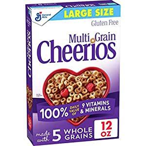 Multi Grain Cheerios, Breakfast Cereal, Gluten Free, Whole Grain Oats, 12 oz $1.99