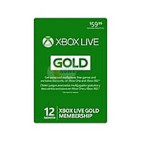 Newegg Deal: Microsoft Xbox LIVE 12 Month Gold Membership Card $35