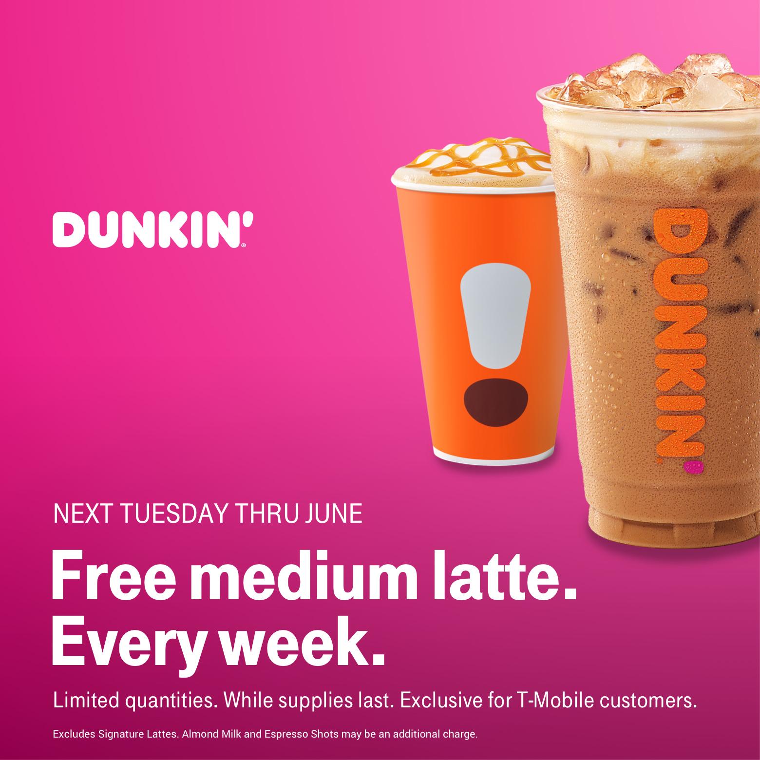 T-Mobile Customers (04/09): $4 movie ticket to Hellboy, $15 off Cheryl's Cookies, Dunkin' Free Medium Latte