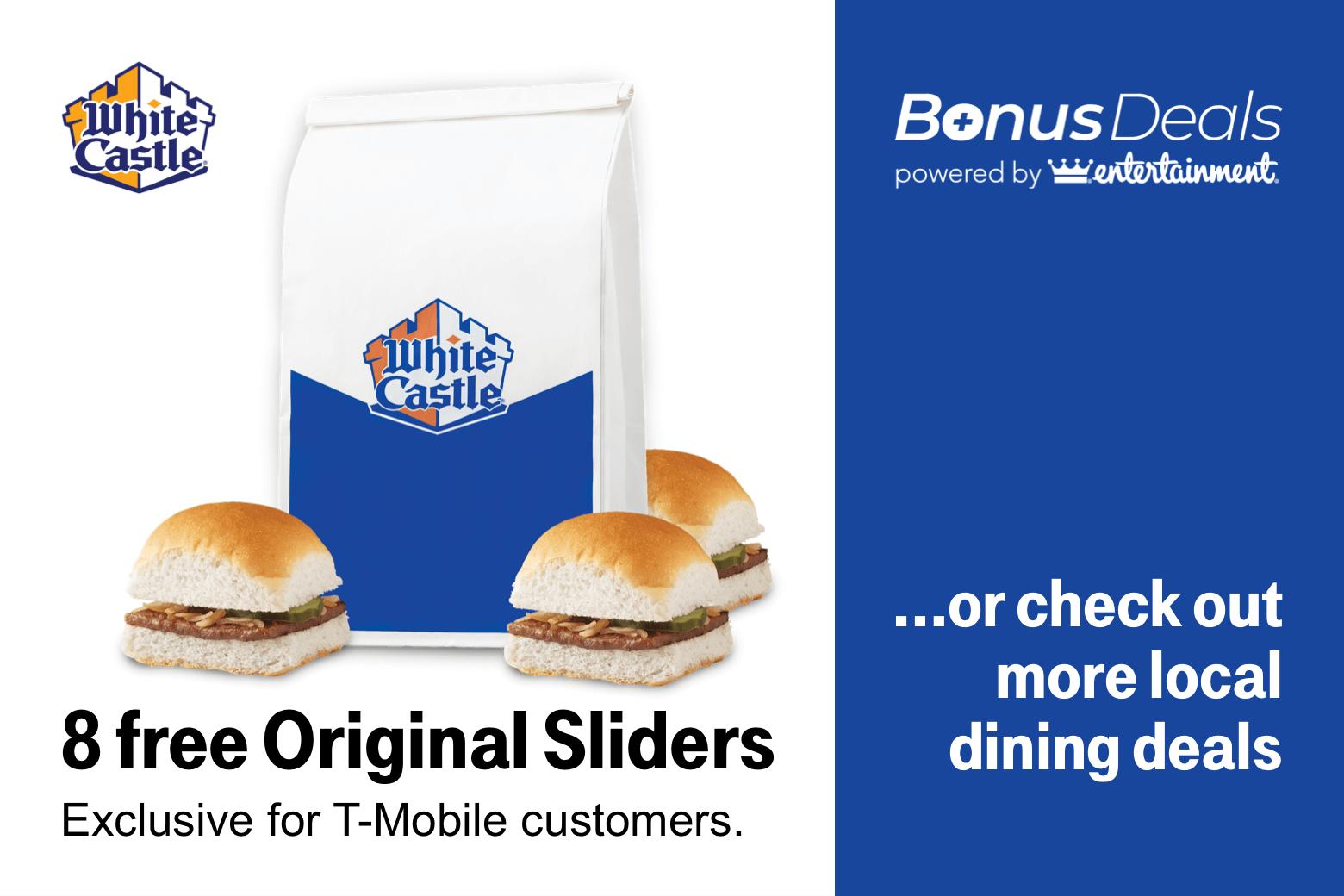 T-Mobile Customers 05/28: 8 Free Sliders White Castle, Free Redbox Rental