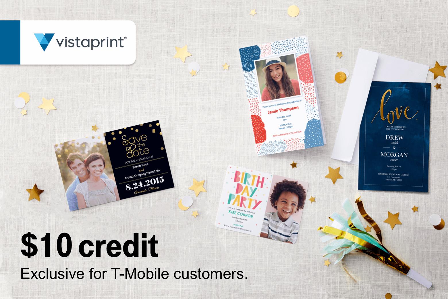 T Mobile Customers 0611 Free Phone Wallet Vistaprint 10 Credit