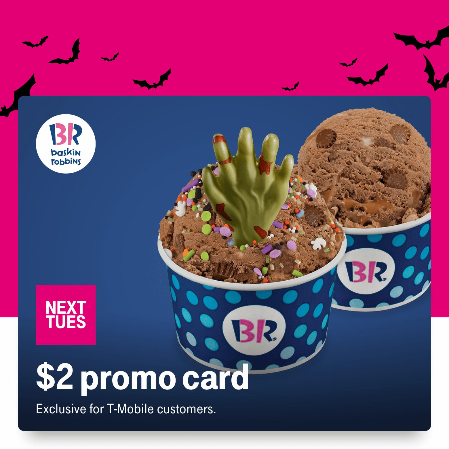 T-Mobile Customers 10/15: $2 BR31 promo card, 50% off Hot Topic, $15 off MLB shop