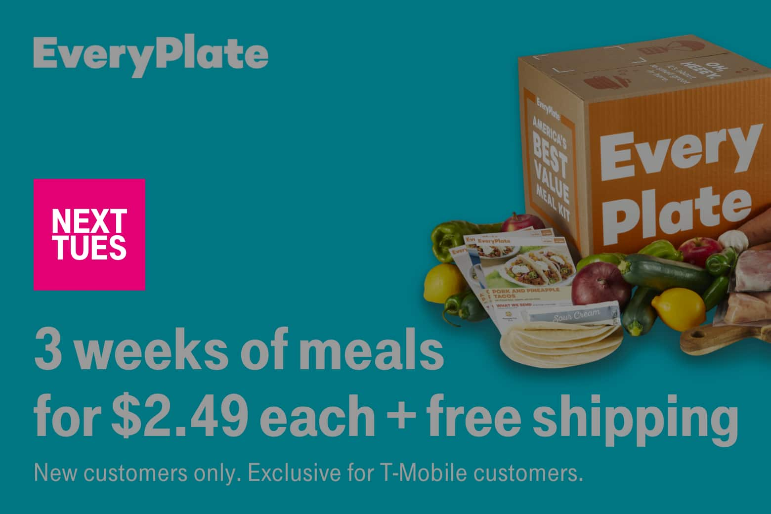 T-Mobile Customers 12/31: Free Whopper, 3 weeks of meals $2.49 each