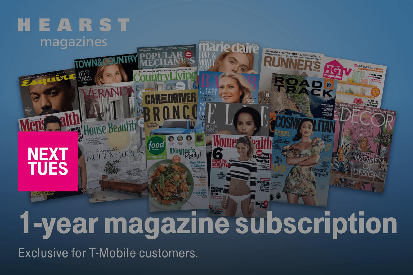 T-Mobile Customers 03/31: Free 1 year magazine subscription
