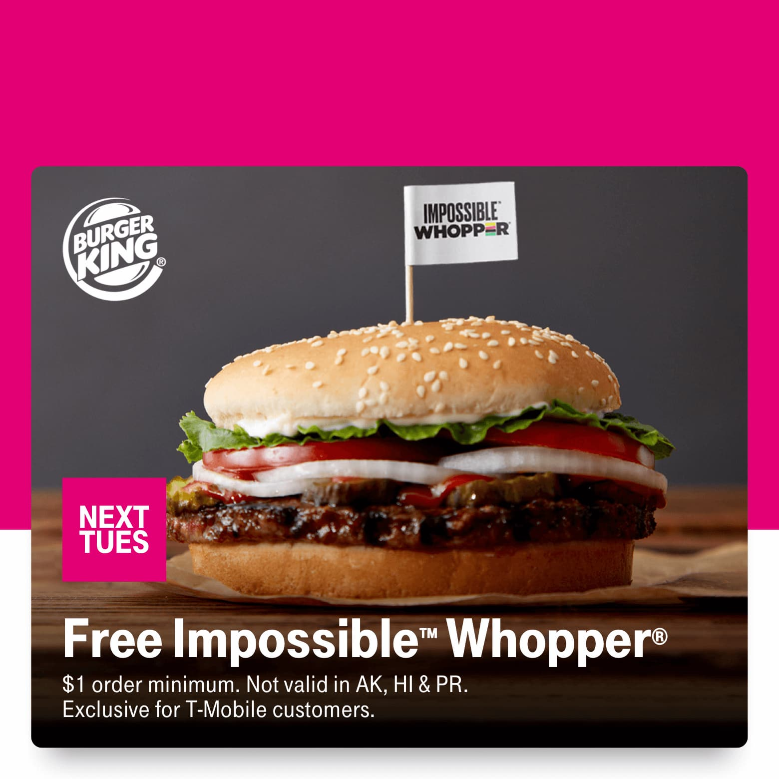 T-Mobile Customers 05/26:  Free Impossible Whopper, Crocs 30% off, Overstock $8 off