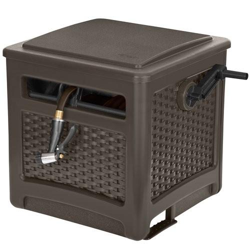 Hose Reel - Suncast Wicker Smart Trak, Java at Walmart for $34.92