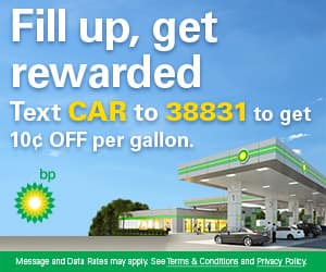 BP Gas Code - Save 10c per gallon; Join BP Offers for additional 5c to 25c discount code; Codes stack with BP Rewards