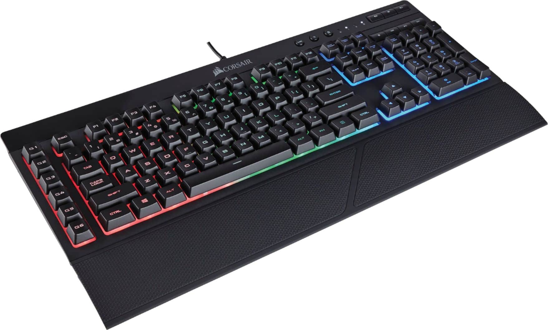 CORSAIR (Refurbished) K55 Wired Gaming Membrane Keyboard with RGB Backlighting for $24.99
