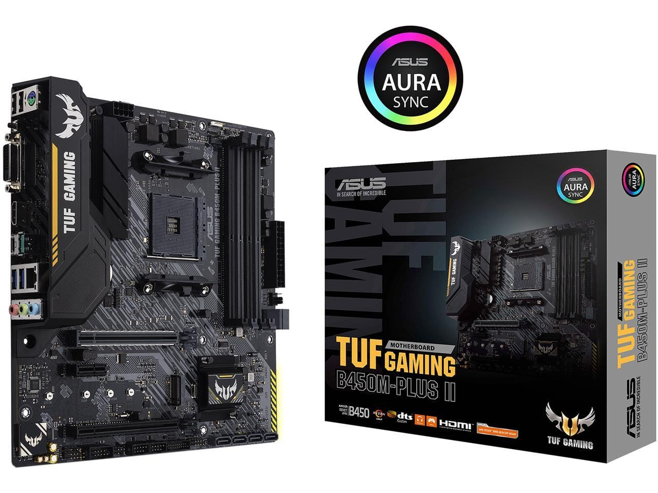 ASUS TUF GAMING B450M-PLUS II AM4 AMD B450 SATA 6Gb/s Micro ATX AMD Motherboard FOR $79.99+FS