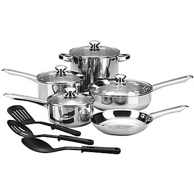 Cooks 12-pc. Essential Stainless Steel Cookware Set - $16 AR