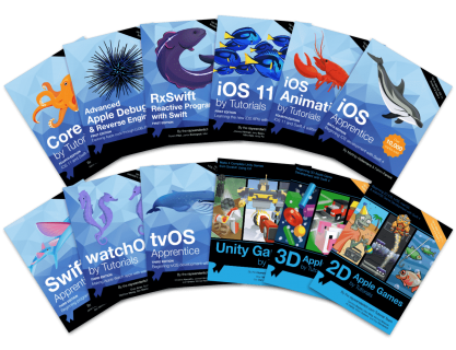 Ray Wenderlich iOS programming books (50% off all books and $199.99 megabundle)