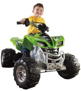Power Wheels Kawaskai KFX Green for $65
