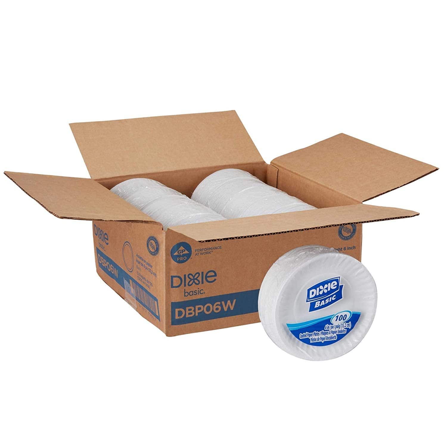 """Dixie Basic 6"""" Light-Weight Paper Plates, 1,200 Count  $20.58 @ Amazon"""