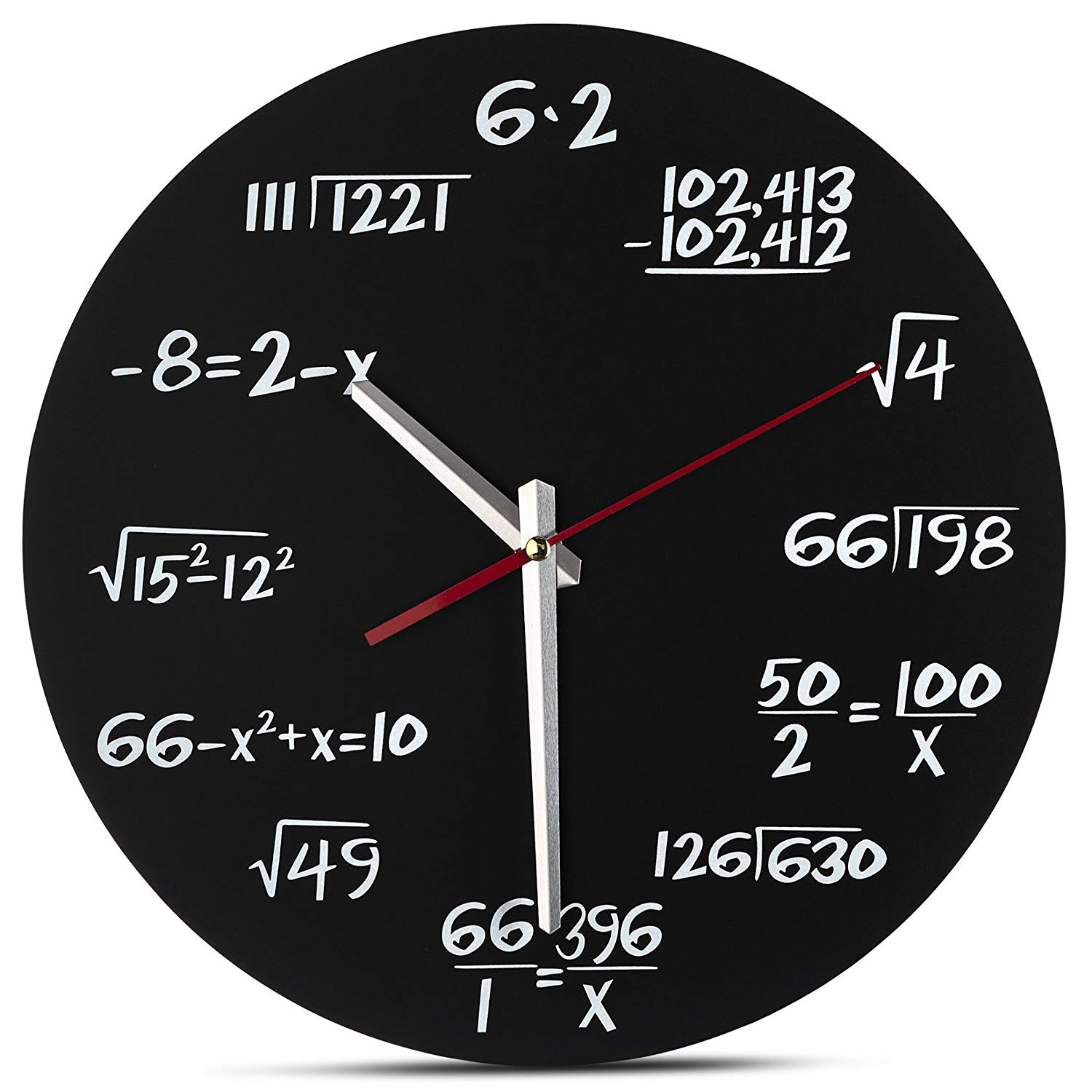 Decodyne Math Wall Clock - Unique Wall Clock - Each Hour Marked By a Simple Math Equation $13.46 AC