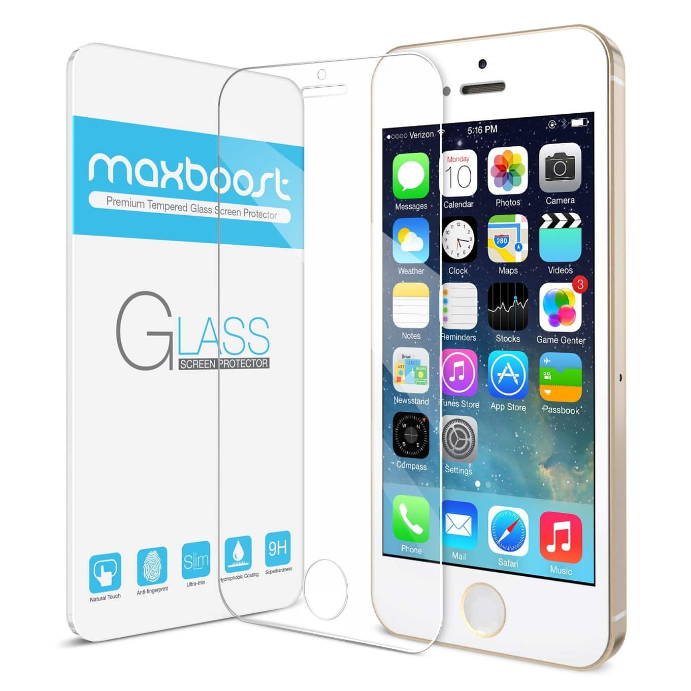 Maxboost Thanksgiving Sale: iPhone 5/5S/5C Glass Screen Protector, 5/5S Battery Case. 6/6S/Plus Cases, POWER BANK From $0.99 FS w/ Amazon Prime