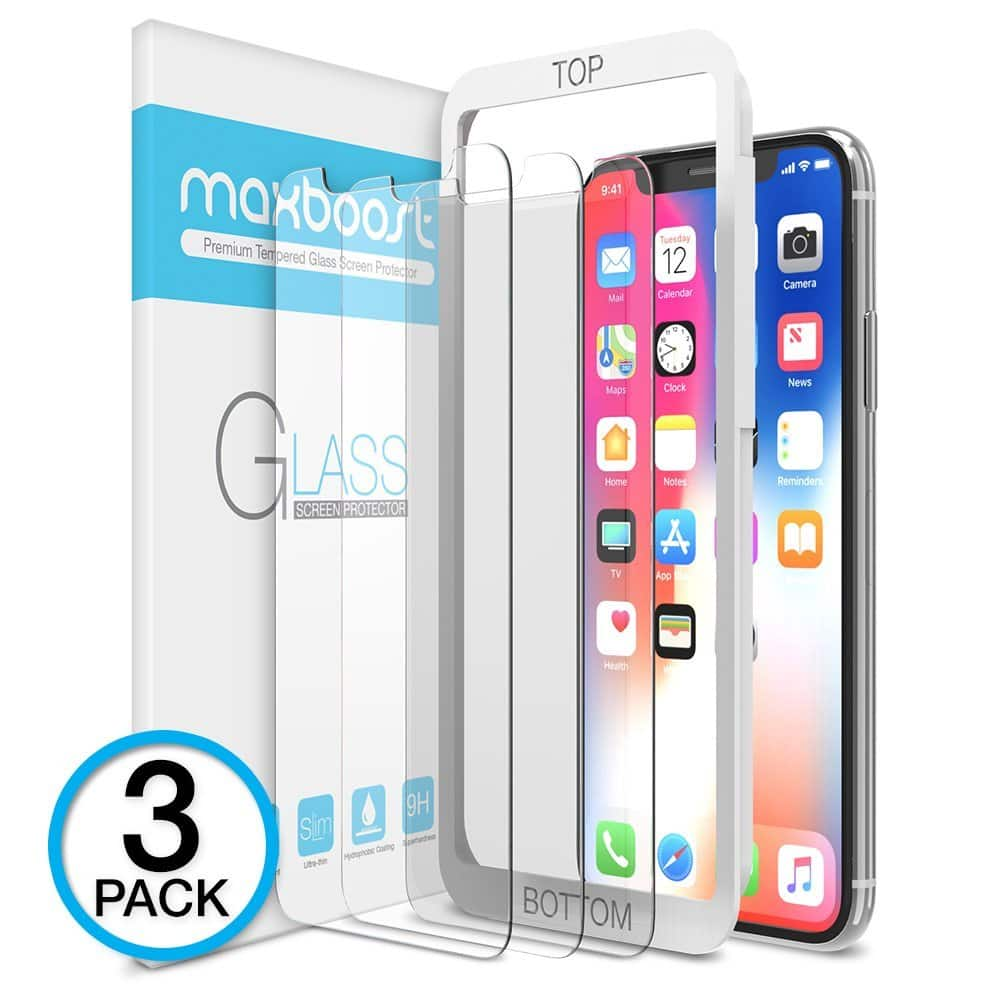 iPhone X Privacy Screen Protector Tempered Glass 2 Pack Free Shipping