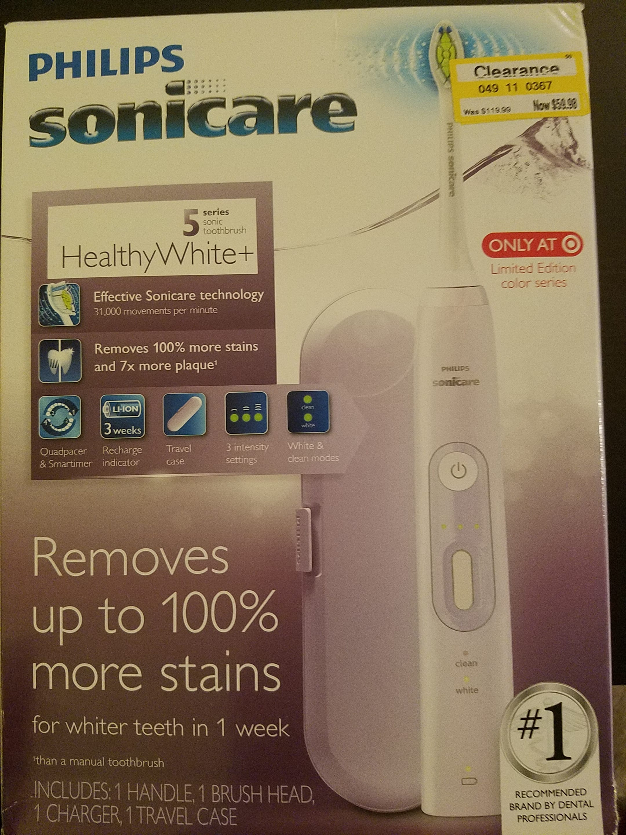 Philips Sonicare Rechargeable Electric Toothbrush Clearance @ Target B&M - YMMV