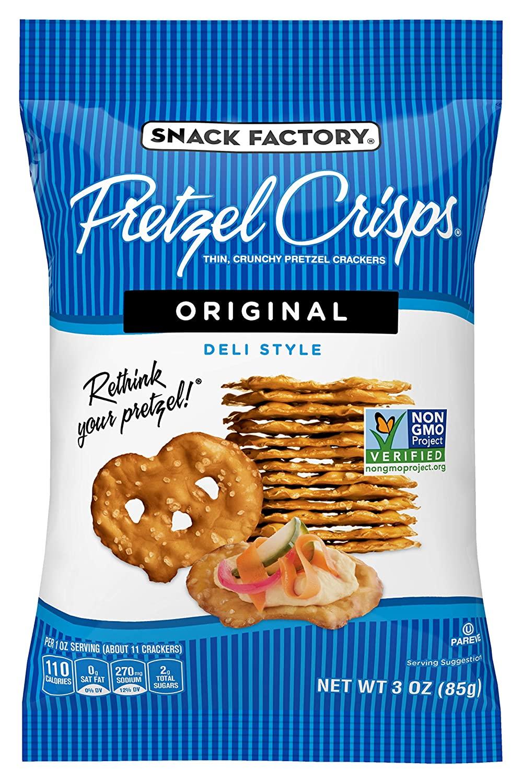 Snack Factory Pretzel Crisps Original Flavor, 3 Oz Bag (Pack of 8) $10.49 @ Amazon