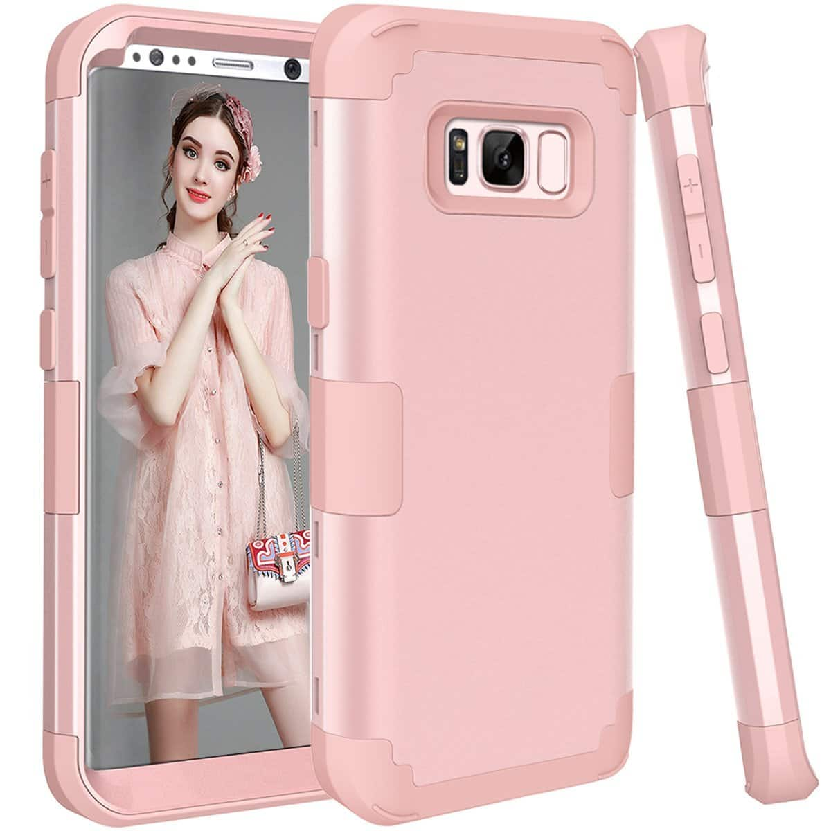 iPhone X, Samsung Galaxy S8 & S8 Plus Cases (Rose Gold color only) $2 after 80% off code + FS