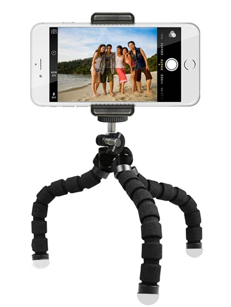 Adjustable Tripod Stand Holder for Smartphones with Bluetooth Remote and Universal Mount $2 after $17 coupon - No Rush Shipping Credit Eligible ($2-10) - $1.80