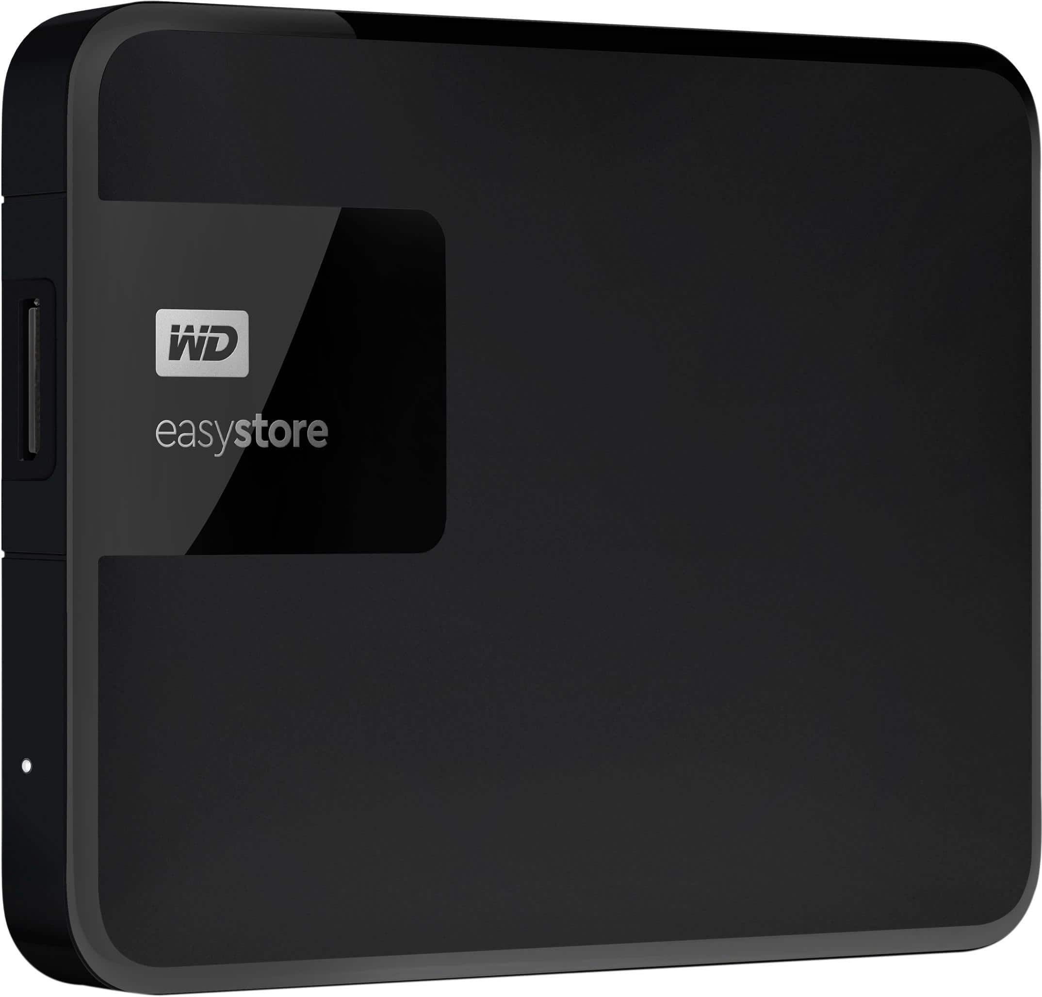 WD - easystore® 2TB External USB 3.0 Portable Hard Drive - Black - $59.99