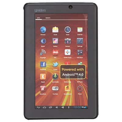 "Uniden Android 4.0 7"" Tablet 1GHz, 4GB (up to 32GB mSD), Front Camera $59 Big Lots B&M"
