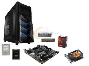 AMD Gaming Supercombo, FX-6300 Vishera 6-Core 3.5GHz CPU, GIGABYTE GA-78LMT MOBO, Klevv Fit 8GB DDR3, 1TB 7200 RPM HDD, RAIDMAX ATX Case, 450W PS, 128GB SSD, 750Ti GPU $386 Newegg