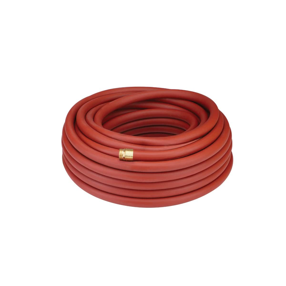 34 x 100 5 Ply Commercial Rubber Heavy Duty Garden Hose Brass