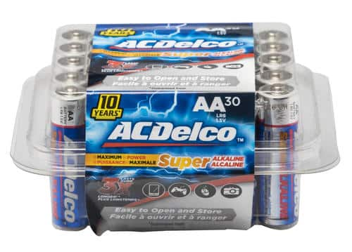 ACDelco AA Super Alkaline Batteries - 30 pack .99 AR, Menards BM $0.99